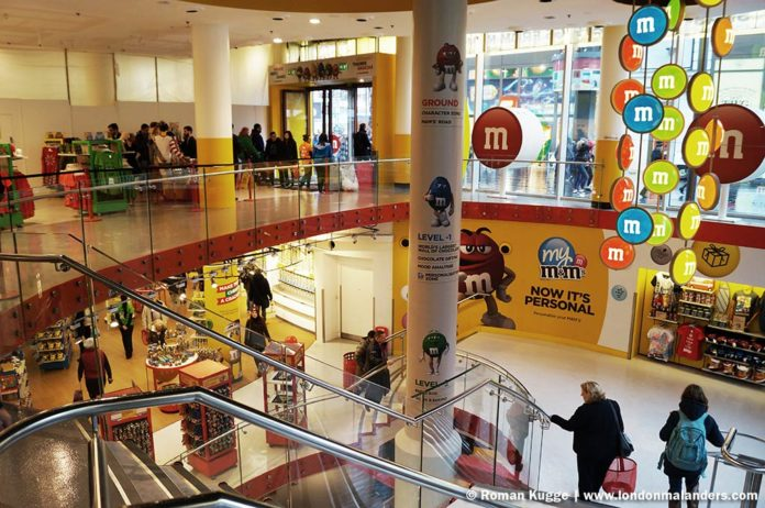 M&M'S World London groesstes Bonbongeschaeft der Welt