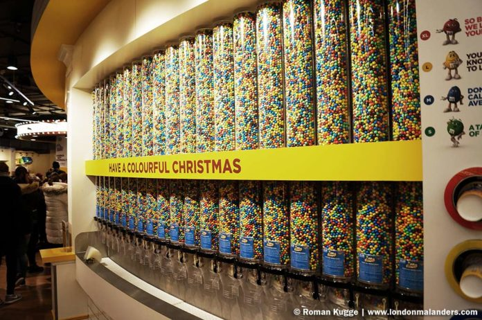 M&M'S World London Bonbonwand
