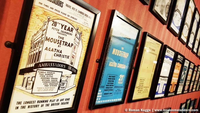 Mausefalle Mousetrap in London Bar alte Poster
