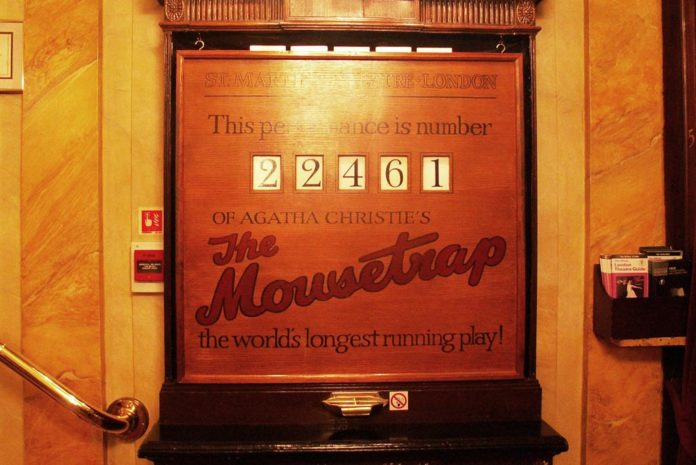 Mausefalle Mousetrap in London Zähler