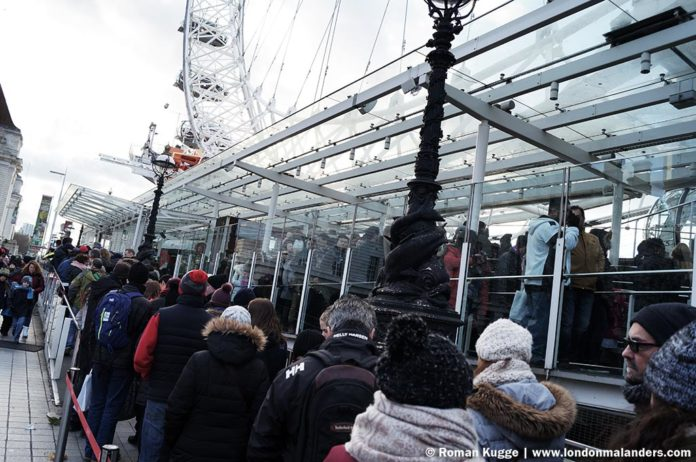 Riesenrad London Eye Wartezeiten