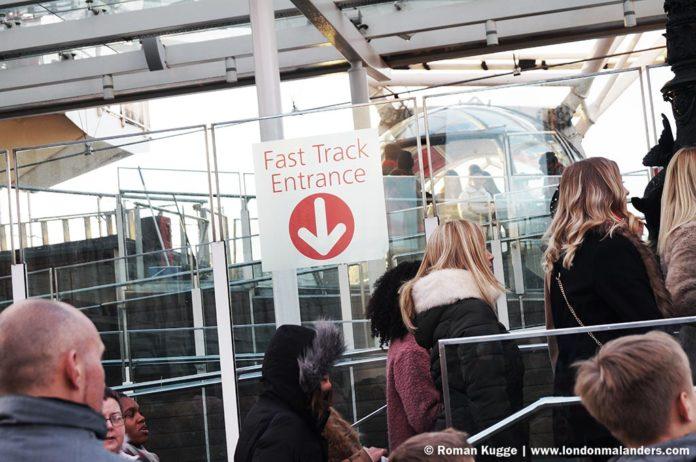 Riesenrad London Eye ohne Anstehen