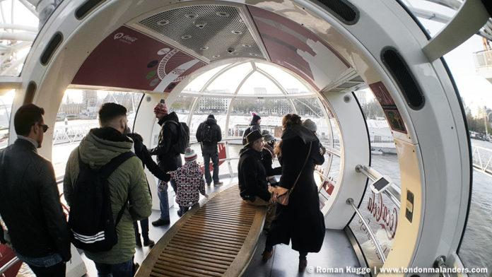Riesenrad London Eye Gondel