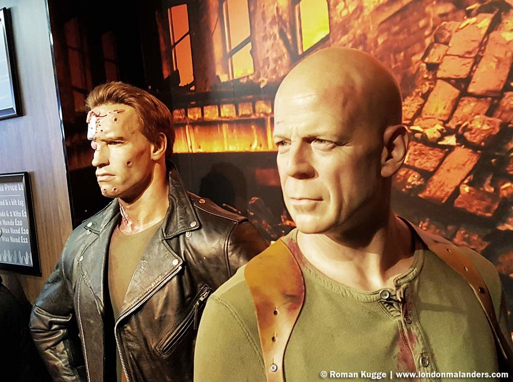Madame Tussauds London Bruce Willis Arnold Schwarzenegger