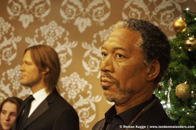 Madame Tussauds London Morgan Freeman Brad Pitt