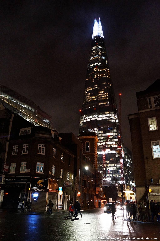 The Shard London nachts by bight