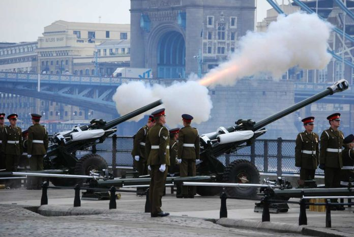 Gun Salute London Tower of London