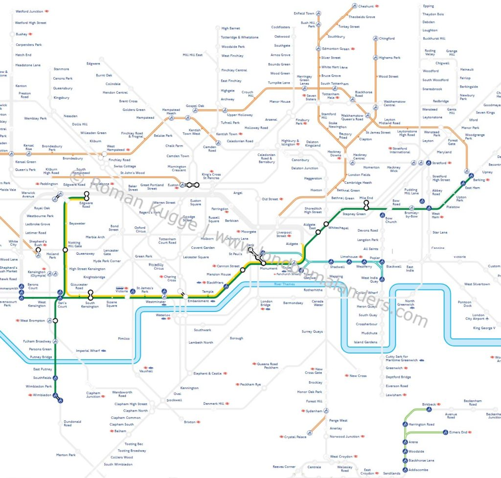 Ostern 2019 U Bahn London