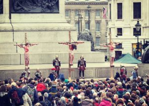 Passion Play Ostern London Trafalgar Square