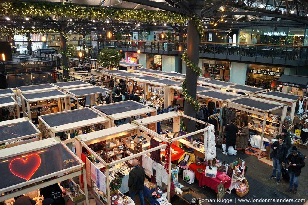 Markt London Weihnachten Old Spitalfields