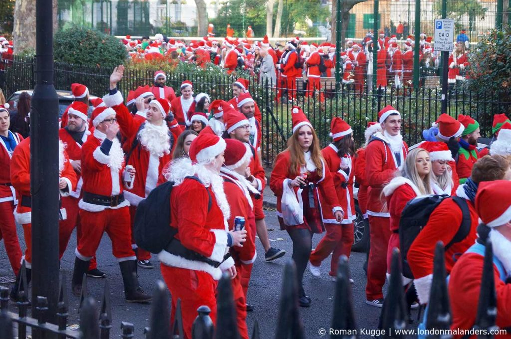 Weihnachtsmann London Santa Con Santa Run