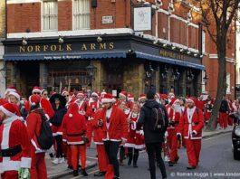 Weihnachtsmann London Santa Con Santa Run