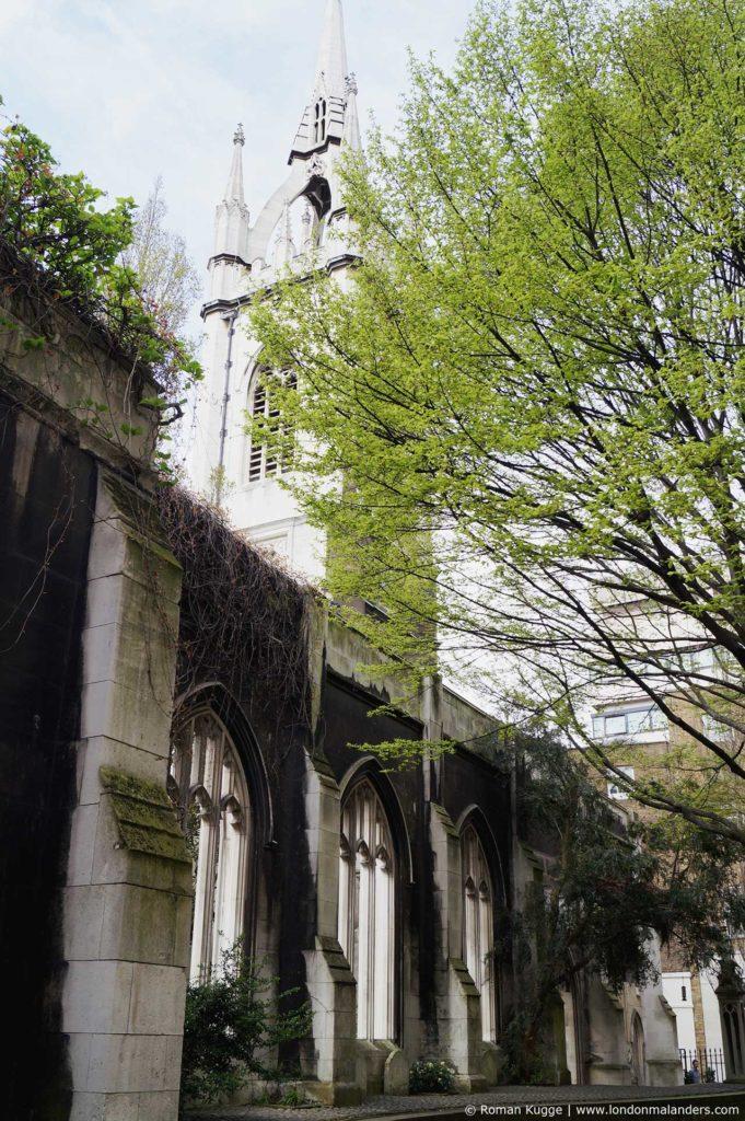 Saint Dunstan in the East London Kirche Ruine