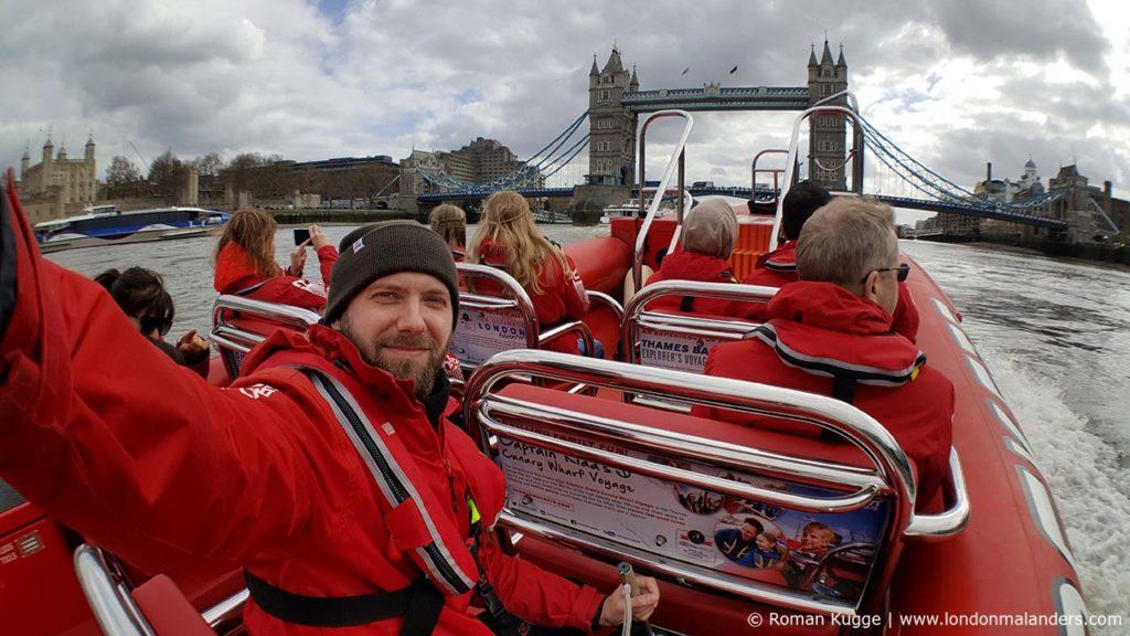 Speedboot London Roman Kugge