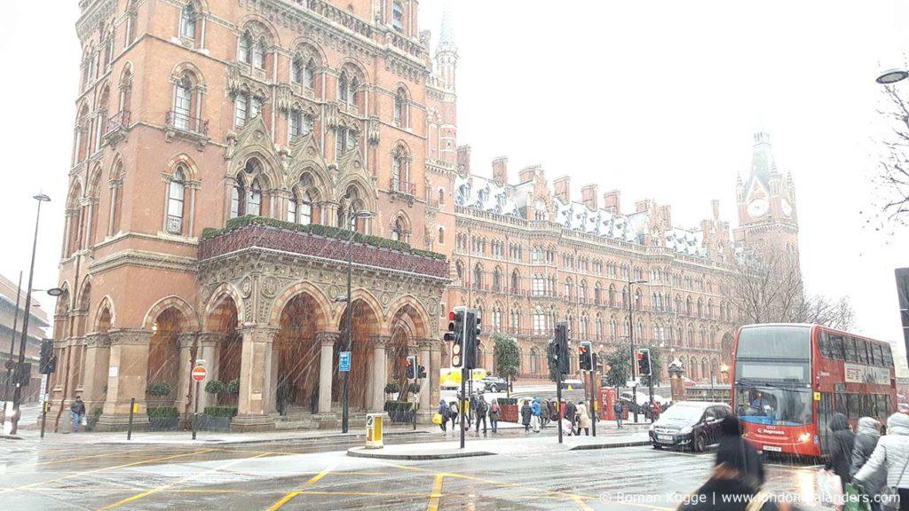 St Pancras Renaissance Hotel London Schnee