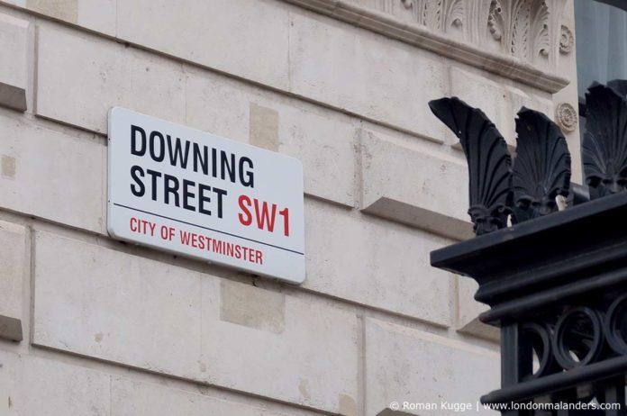 10 Downing Street Straßenschild
