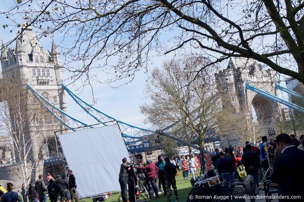 Dreharbeiten bei der Tower Bridge