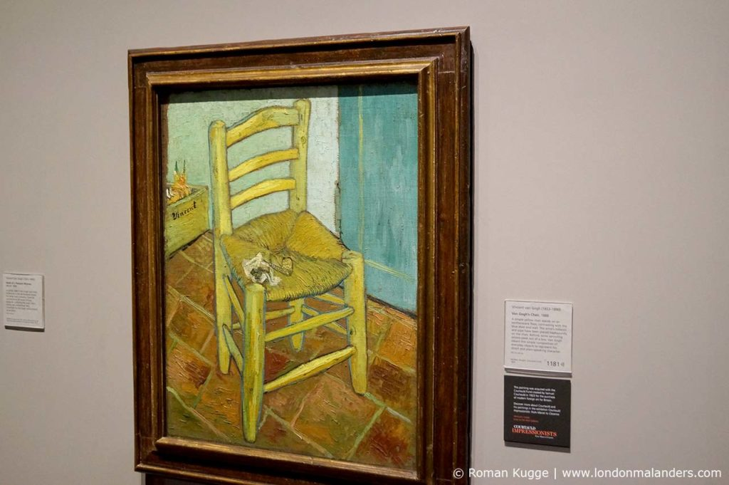 National Gallery London Van Gogh Stuhl mit Pfeife