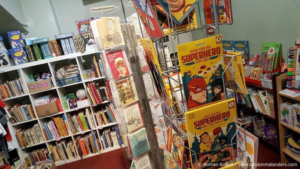 Souvenir Geschäft Cartoon Museum London