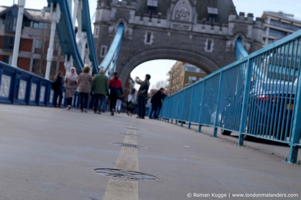 Tower Bridge gelbe Linie Walk of Fame
