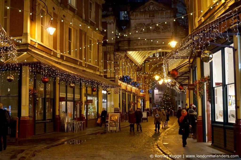 Leadenhall Market Weihnachten Beleuchtung
