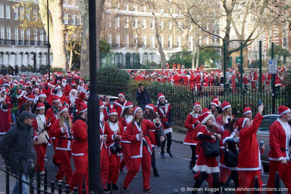 Santa Con Santa Run London