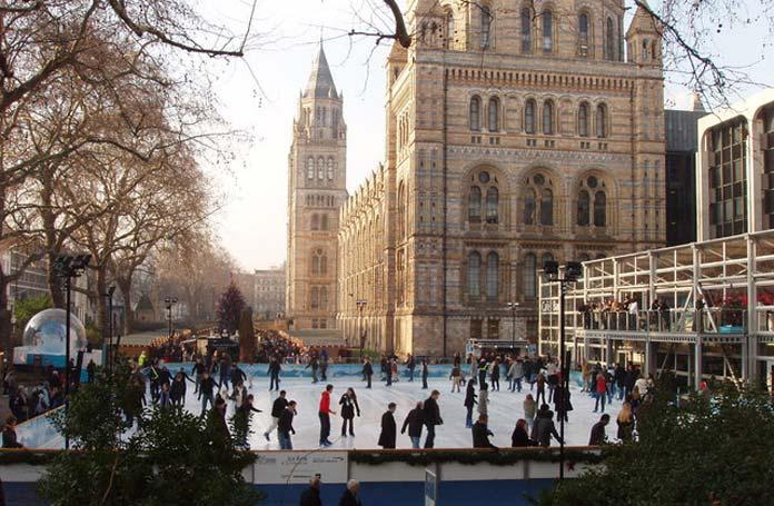 Schlittschuhlaufen London Weihnachten