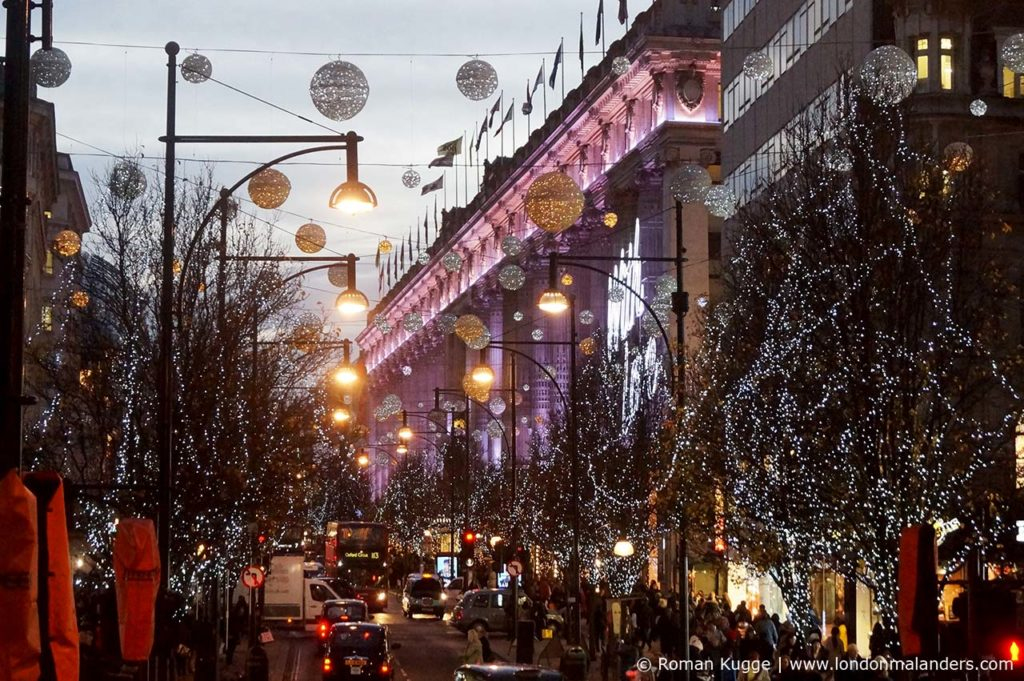 Weihnachtsbeleuchtung London Oxford Street