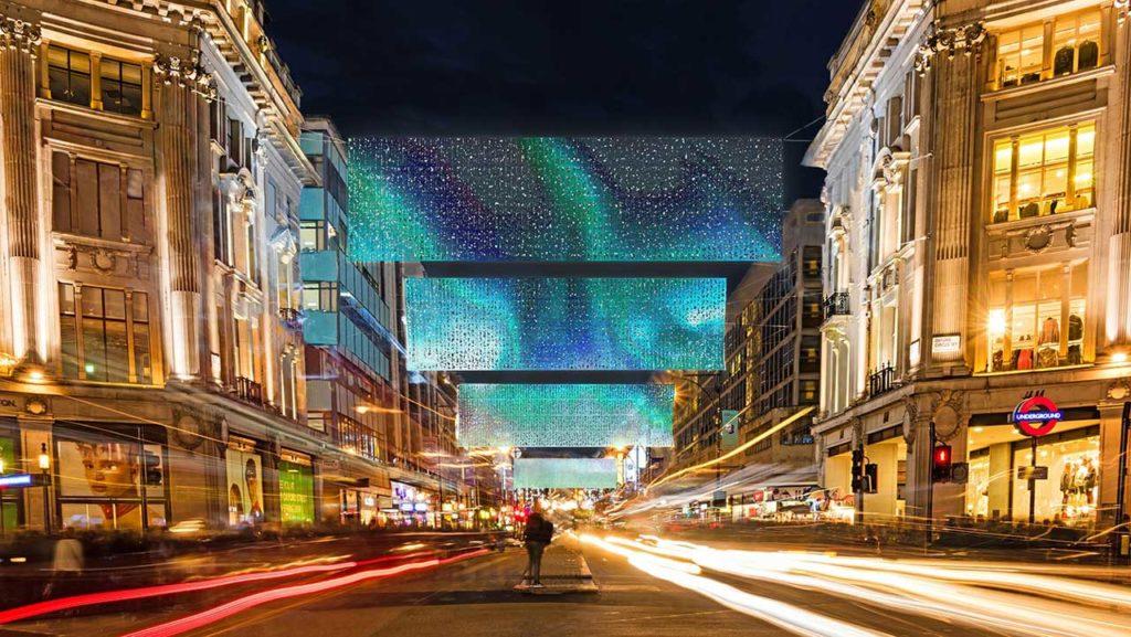 Oxford Street Weihnachtsbeleuchtung London