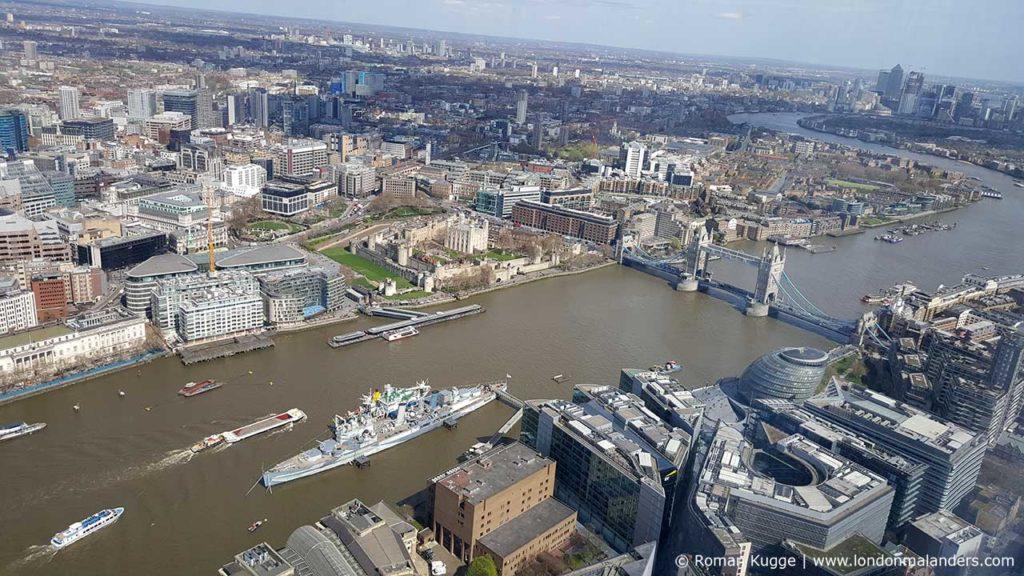 Ausblick über London von The Shard