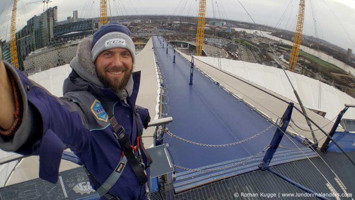 Up the O2 - Klettern auf dem Dach der O2 Arena in London